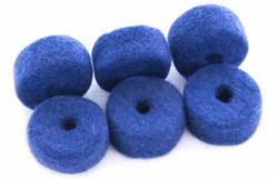 Feltros Tribal Percussion Kit com 6 Feltros (Azul) em Lã de Carneiro para Estante de Prato