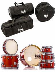 Kit de Bag de Bateria Taye GoKit Travel Bag Set com 3 Peças GoPack-3 Compatível com Kits Compactos