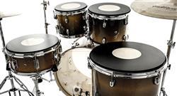 """Kit de Pads de Estudo Nevada Drums 10"""", 12"""", 16"""", 14"""" com Tonalidade de Nota Musical"""