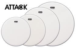 "Kit de Peles Attack Drumheads 1-Ply Medium Coated Frost Bite Porosa 10"", 12"", 14"", 16"" DHAFBROCKi"