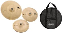 "Kit de Pratos Batera Clube Solutions Prototype com Crash 16"", Hihat 14"", Ride 20"" e Bag"