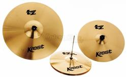 "Kit de Pratos Krest TZ Series com Chimbal 14"", Crash 16"", Ride 20"" TZSET1-CX20"