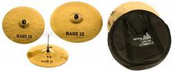 """Kit de Pratos Orion Rage 10 Power RG70 com Crash 16"""", Ride 20"""", Chimbal 14"""" e Bag"""