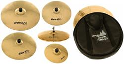 "Kit de Pratos Orion Revolution Pro 10 Full RV102 c/ Crashes 16"" e 18"", Hihat 14"", Ride, Splash e Bag"