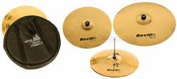 "Kit de Pratos Orion Revolution Pro 10 RV70 em Bronze B10 com Crash 16"", Chimbal 14"", Ride 20"" e Bag"
