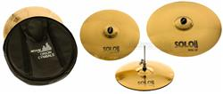 "Kit de Pratos Orion Solo Pro 10 SP90 Power Set com Crash 16"", Hihat 14"", Ride 20"" e Bag"