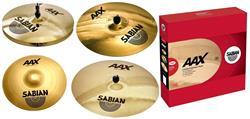 """Kit de Pratos Sabian AAX Modern com Crashes AAXPlosion 16"""" e 14"""", Chimbal 14"""", Ride 20"""", Bag"""