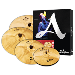 "Kit de Pratos Zildjian A Custom A20579 com Crashes 16"" e 18"", Ride 20"", Chimbal 14"""