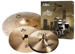 """Kit de Pratos Zildjian A Series City Pack com Chimbal 12"""", Uptown Ride 18"""" e Crash 14"""" Compact Setup"""