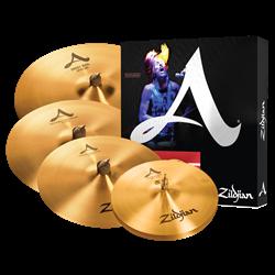 """Kit de Pratos Zildjian Avedis A0391 com Crashes 16"""" e 18"""", Ride Sweet 21"""", Chimbal New Beat 14"""""""