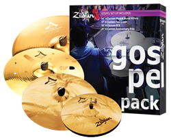 "Kit de Pratos Zildjian Gospel A Custom A0801G com Crashes 17"" e 18"" EFX, Ride 21"", Chimbal 14"""