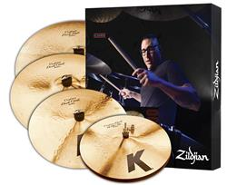 "Kit de Pratos Zildjian K Custom Dark Series KCD900 com Crashes 16"" e 18"", Ride 20"" e Chimbal 14"""