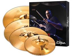 "Kit de Pratos Zildjian K Custom Hybrid Series K1250 com Crashes 16"" e 18"", Ride 20"" e Chimbal 14"""