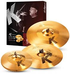 "Kit de Pratos Zildjian K Custom Hybrid Series KCH390 com Crash 17"", Ride 21"" e Chimbal 14"""