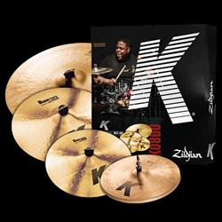"""Kit de Pratos Zildjian K Series Dark K0800 com Crashes 16"""" e 18"""", Ride 20"""" e Chimbal 14"""""""