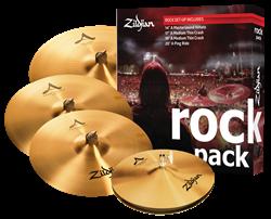 "Kit de Pratos Zildjian Rock A Series A0801R com Crashes 17"" e 19"", Ride 20"", Chimbal 14"""