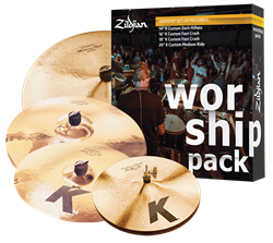 "Kit de Pratos Zildjian Worship K Custom KC0801W com Crashes 16"" e 18"", Ride 20"", Chimbal 14"""