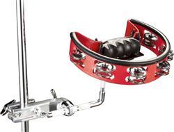 Pandeirola Pearl PTM-50BHR Brass com clamp para fixar em hastes das estantes e clamps
