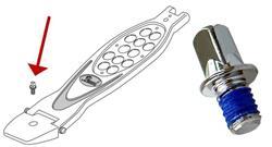 Parafuso Pearl KB-608D/6 Kit com 6 Un Rosca M6 e 8mm p/ Calcanhar Sapatas Pedal e Hihat PowerShifter