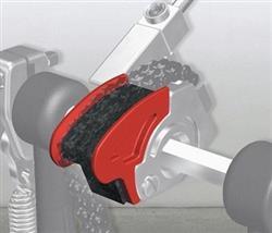 Pearl CAMT-RD Vermelho Polia para Pedal Eliminator Red Line em Curva Curta e Acentuada
