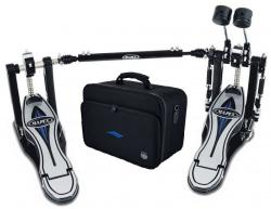 Pedal Duplo Mapex Falcon PF1000TW Double Chain com Polia Pursuit, Batedores com Peso e Bag Incluso