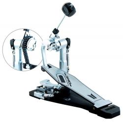 Pedal Single D-One DP1000 com Sistema Direct Drive e Double Chain Corrente Dupla (2 em 1)