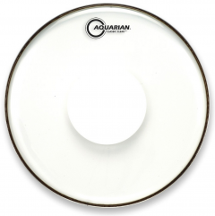 "Pele Aquarian Classic Clear 12"" com Power Dot Central (Similar Remo CS Clear) CCPD12"