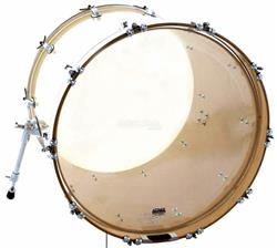 "Pele Attack Drumheads 2-Ply Medium Clear Bass 20"" Filme Duplo de Bumbo DH20 com Borda Tone Ridge"
