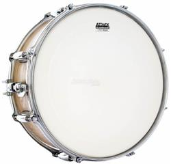 "Pele Attack Drumheads 2-Ply Medium Coated Tone Ridge 14"" Filme Duplo DH14C com Borda Anti-vibração"
