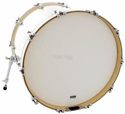 "Pele Attack Drumheads 2-Ply Thin Skin Coated Bass 20"" Filme Duplo Porosa de Bumbo DHTS2-20C"