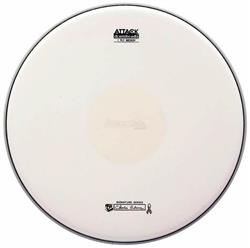"Pele Attack Drumheads Signature Charlie Adams 14"" CAB14C Medium Coated Dot com Bola Central"