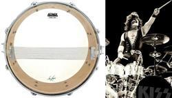 """Pele Attack Drumheads Signature Eric Singer Hazy Snare 14"""" ES14M Resposta de Caixa"""