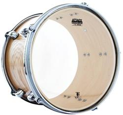 "Pele Attack Drumheads Terry Bozzio Signature Clear 12"" Transparente Clássica TB12"