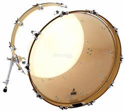 "Pele Attack Drumheads Terry Bozzio Signature Clear 20"" de Bumbo com Muffle Abafador TBNO20"