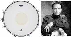 "Pele Attack Drumheads Terry Bozzio Signature Coated Bottom Dot 13"" Porosa TBB13-C com Bola Central"