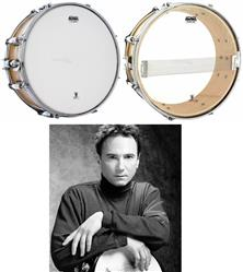 "Pele Attack Pack de Caixa Terry Bozzio Signature com Coated 14"" Porosa e Resposta Hazy 14"" TBVP"