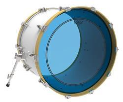 """Pele Remo Powerstroke 3 Colortone Blue 18"""" Azul com Anel Muffle Abafador Interno (15628)"""