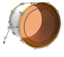 "Pele Remo Powerstroke 3 Colortone Orange 18"" Laranja com Anel Muffle Abafador Interno (15629)"