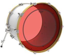 """Pele Remo Powerstroke 3 Colortone Red 18"""" Vermelha com Anel Muffle Abafador Interno (15627)"""