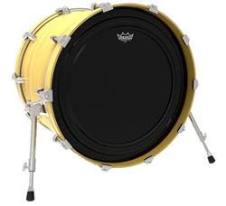 """Pele Remo Powerstroke Pro Ebony 20"""" com Abafador Extra e Sistema de Overtones (10480)"""