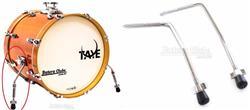 Pés de Bumbo Taye SP40 Bass Drum Spurs Cromado Par Tipo Encaixe em Canecas 10mm