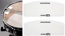 Protetor de Esteira de Caixa Aquarian Snare-Stripe ST4 para controlar e não furar a pele de resposta