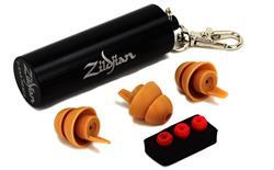 Protetor de Ouvido Zildjian HD Ear Plugs ZPLUGSD Kit com Filtros Ajustáveis, 3 Protetores e Case