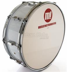 "Zabumba PHX Music Instrumentos Basswood White 519R-DP-BR 18x7"""