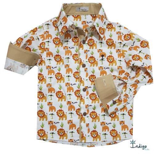 9620a5c164 Camisa Infantil Safári Oslo   Camisa Body - Camisa Social   Meu Menino