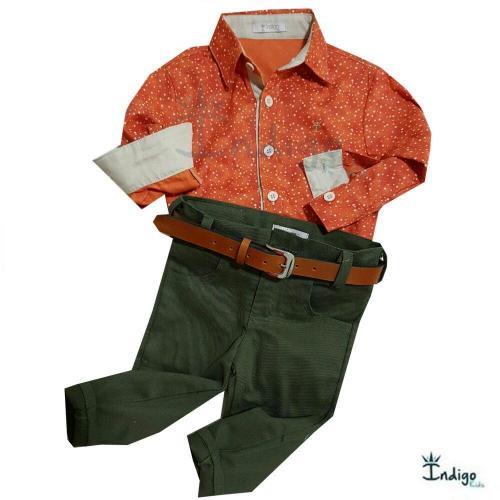 84dffc1f80634 Conjunto Infantil Camisa ou Body Angola   COMPRE POR LOOK - Casual ...