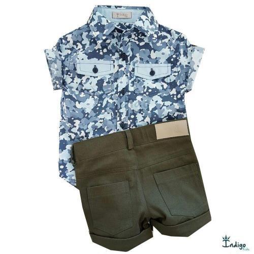 Conjunto Infantil Camisa Russia   COMPRE POR LOOK - Casual Social ... 3728a261b2d33