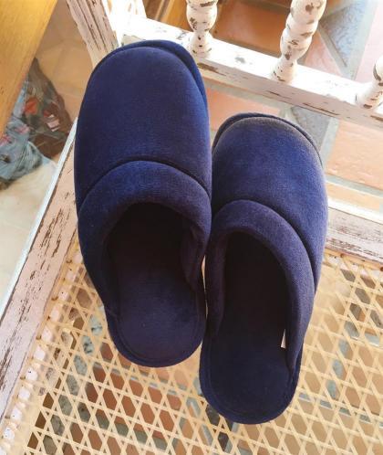 Chinelo fechado de Plush Azul Marinho