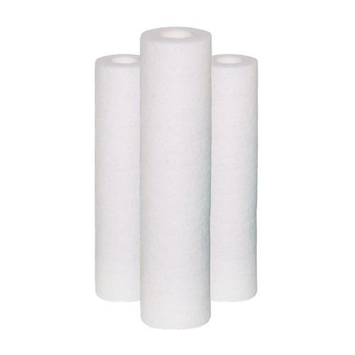 """Polipropileno De 10"""" De Altura x 2.1/2"""" de diâmetro x 5 Micras - Kit com 3 unidades"""