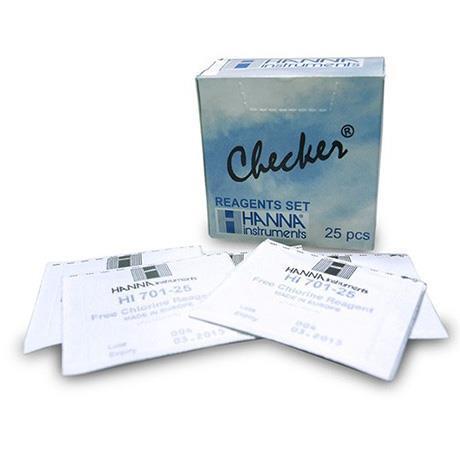 Reagente Em Pó Para Teste De Cloro Livre HI701-25 - Contém 25 Testes